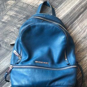 Michael Kors blue backpack